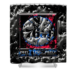The Philadelphia 76ers Shower Curtain by Brian Reaves