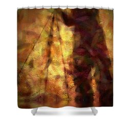 The Photographer In Water Shower Curtain by Joyce Dickens
