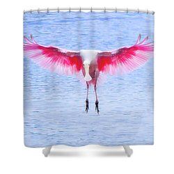 The Pink Angel Shower Curtain by Mark Andrew Thomas