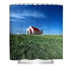 The Pink Church Shower Curtain by Todd Klassy