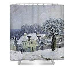 The Place Du Chenil At Marly Le Roi Shower Curtain by Alfred Sisley