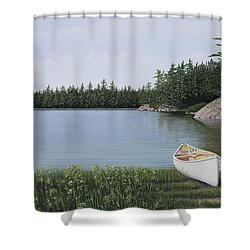 The Portage Shower Curtain by Kenneth M  Kirsch