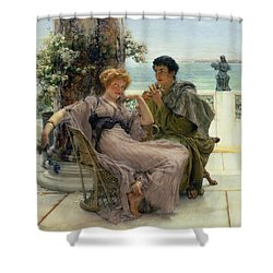 The Proposal Shower Curtain by Sir Lawrence Alma Tadema