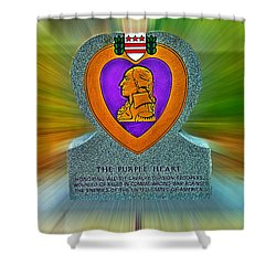 the Purple Heart Shower Curtain by Francisco Colon
