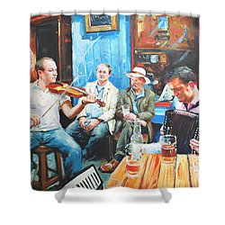 The Quay Players Shower Curtain by Conor McGuire
