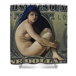 The Rape Of Lady Liberty Shower Curtain by Patrick Anthony Pierson