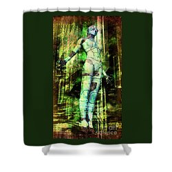 The Revelations Of Glaaki Shower Curtain by Luca Oleastri