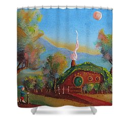 The Road Goes Ever On. Shower Curtain by Joe  Gilronan