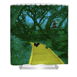The Road To Oz Shower Curtain by Methune Hively