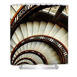 The Rookery Spiral Staircase Shower Curtain by Ely Arsha