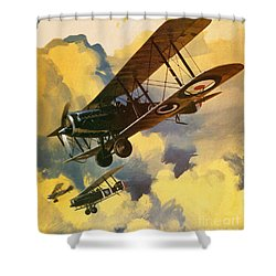 The Royal Flying Corps Shower Curtain by Wilf Hardy