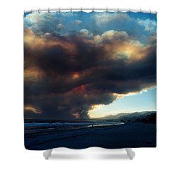The Santa Barbara Fire Shower Curtain by Jerry McElroy