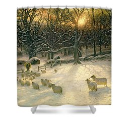 The Shortening Winters Day Is Near A Close Shower Curtain by Joseph Farquharson