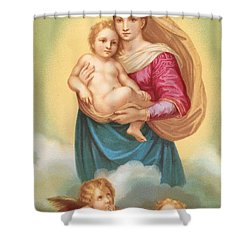 The Sistine Madonna Shower Curtain by Raphael