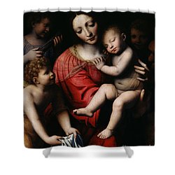 The Sleeping Christ Shower Curtain by Bernardino Luini