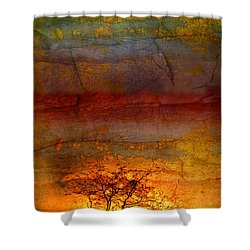 The Soul Dances Like A Tree In The Wind Shower Curtain by Tara Turner