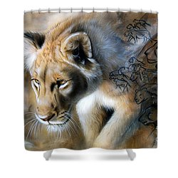 The Source Shower Curtain by Sandi Baker