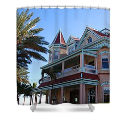 The Southernmost House In Key West Shower Curtain by Susanne Van Hulst