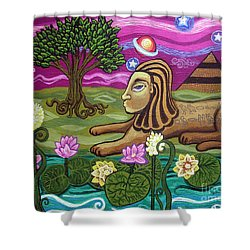 The Sphinx Shower Curtain by Genevieve Esson