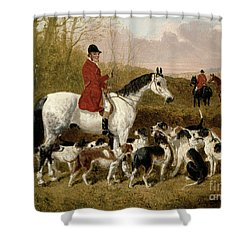 The Start  Shower Curtain by John Frederick Herring Snr