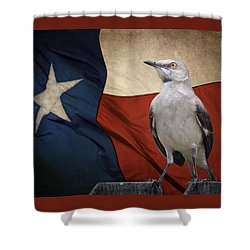 The State Bird Of Texas Shower Curtain by David and Carol Kelly