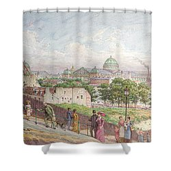 The Steps At The Rue Alboni Shower Curtain by Arnaud Durbec