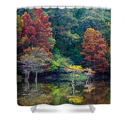 The Stillness Of The River Shower Curtain by Inge Johnsson