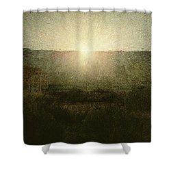 The Sun Shower Curtain by Giuseppe Pellizza da Volpedo