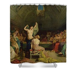 The Tepidarium Shower Curtain by Theodore Chasseriau