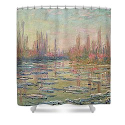 The Thaw On The Seine Shower Curtain by Claude Monet