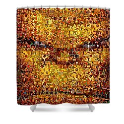 The Thing Mosaic Shower Curtain by Paul Van Scott