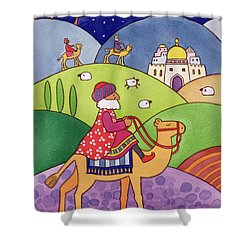 The Three Kings Shower Curtain by Cathy Baxter