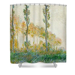 The Three Trees Shower Curtain by Claude Monet