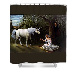The Trap Shower Curtain by Jane Whiting Chrzanoska