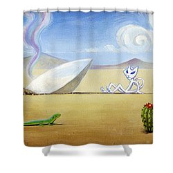 The Truth About Roswell Shower Curtain by John Deecken