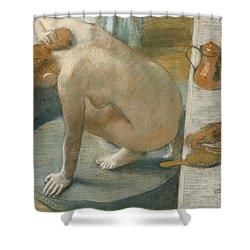 The Tub Shower Curtain by Edgar Degas