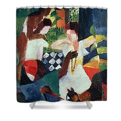 The Turkish Jeweller  Shower Curtain by August Macke