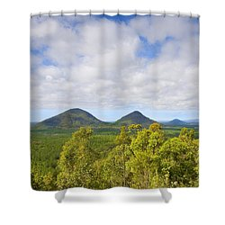 The Twins Shower Curtain by Mike  Dawson