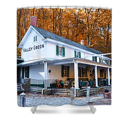 The Valley Green Inn In Autumn Shower Curtain by Bill Cannon