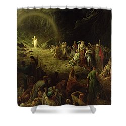 The Valley Of Tears Shower Curtain by Gustave Dore