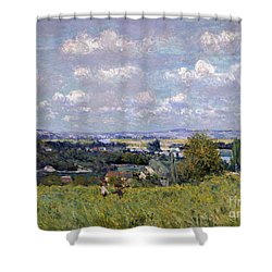 The Valley Of The Seine At Saint Cloud Shower Curtain by Alfred Sisley