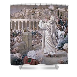 The Voice From Heaven Shower Curtain by Tissot