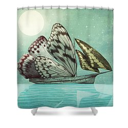 The Voyage Shower Curtain by Eric Fan
