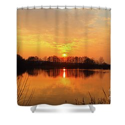 The Waal Shower Curtain by Stephen Smith