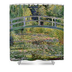 The Waterlily Pond With The Japanese Bridge Shower Curtain by Claude Monet