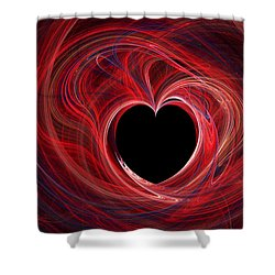 The Way To My Heart Shower Curtain by Kaye Menner