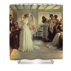 The Wedding Morning Shower Curtain by John Henry Frederick Bacon