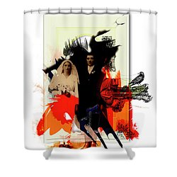 The Wedding Picture Shower Curtain by Aniko Hencz