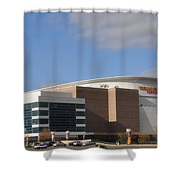 The Wells Fargo Center - Philadelphia  Shower Curtain by Bill Cannon