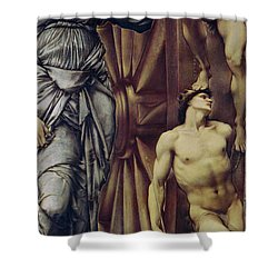 The Wheel Of Fortune Shower Curtain by Sir Edward Burne Jones